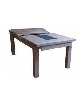 Table 200x100 cm + 4 allonges de 40 cm