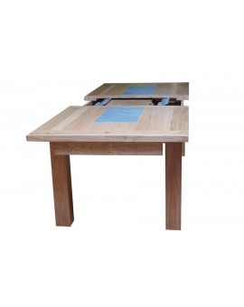 Table 200x100 cm + 2 allonges de 50 cm